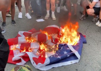 Протестующие у Белого дома после речи Трампа сожгли флаг США
