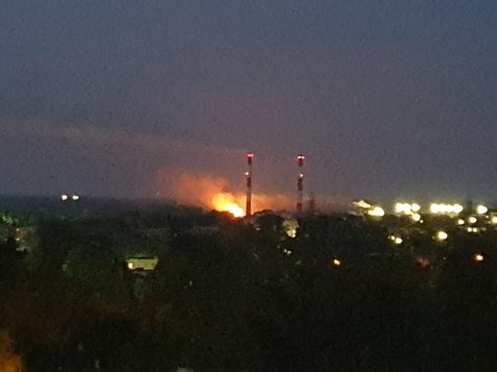 Вблизи фанерного комбината в Кирове был пожар