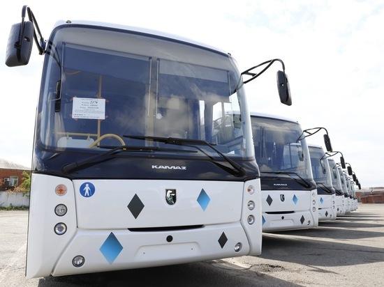 Восемь новых автобусов поступили в Кузбасс