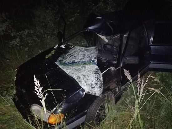 Юная автомобилистка улетела в кювет на дороге под Тверью
