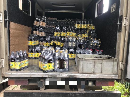 МВД Тувы: 1512  бутылок пива изъято у бутлегера на подъезде к селу Бай-Хаак