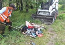 Власти Кызыла ведут борьбу со стихийными свалками