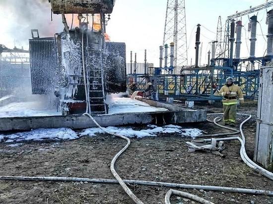 В Сургутском районе случился пожар на трансформаторной подстанции