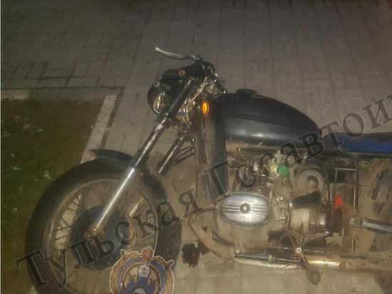 Под Киреевском мотоцикл влетел в забор