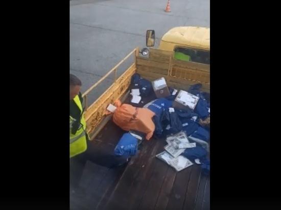 Сотрудники служб барнаульского аэропорта стали героями видео со швырянием посылок