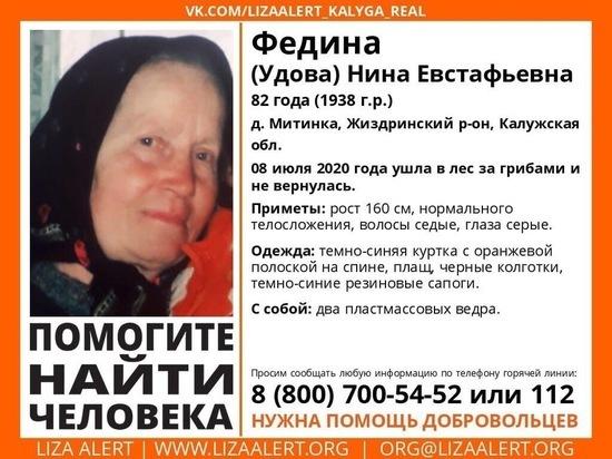В лесу пропала 82-летняя калужанка