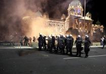 В Белграде в ходе протестов пострадало почти 40 человек