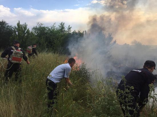 В Волгоградской области задержан возможный виновник крупного пожара