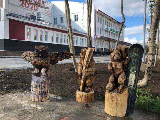 В Кировске появились деревянные скульптуры