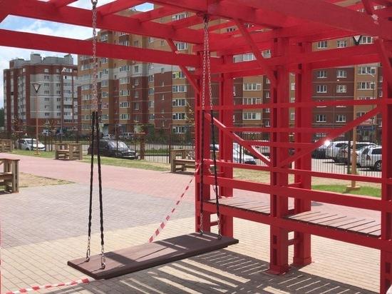 Сквер Краснопивцева в Калуге получит новые качели