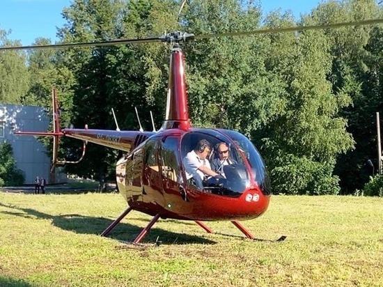 Жителей Обнинска взволновал приземлившийся в МРНЦ вертолет