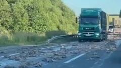 В Ярославской области по дороге рассыпали несколько тонн курятины