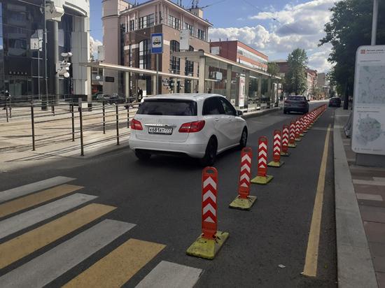 Москвичи раскритиковали велополосу на Лесной: острее стоит проблема парковки