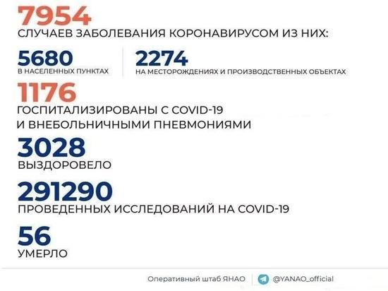 Еще 212 случаев коронавируса выявили в ЯНАО