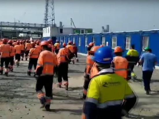 Рабочие-мигранты устроили беспорядки на Амурском заводе «Газпрома»