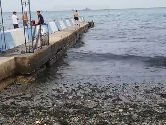 Опубликовано видео пляжей с нечистотами в Крыму: «Черные воды Черного моря»