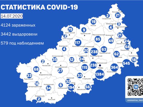 В семи районах Тверской области зарегистрировали новые случаи коронавируса