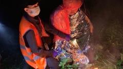 Момент спасения заблудившегося в лесу Калуги пенсионера