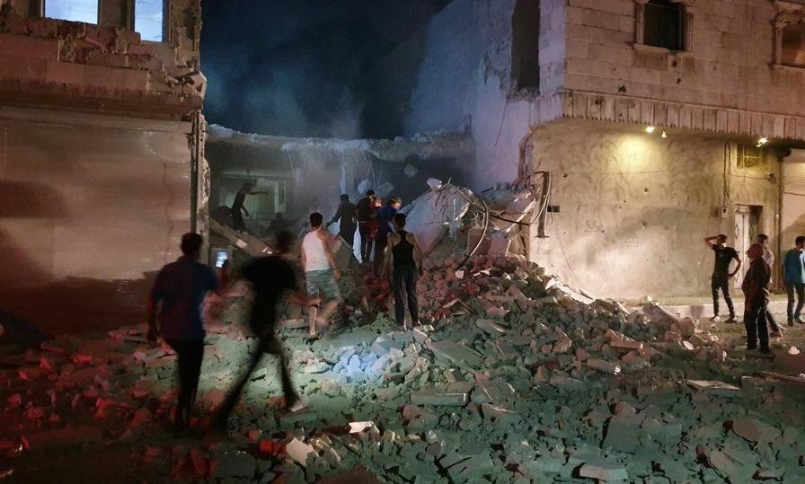 6234c04cda9cc4d90bbfdf56593399dc - По городу Эль-Баб на севере Сирии нанесен авиаудар