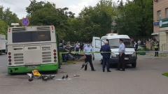Автобус врезался в остановку на юго-востоке Москвы: место ДТП
