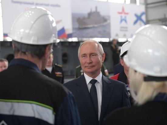 Путин в Керчи заложил два десантных корабля