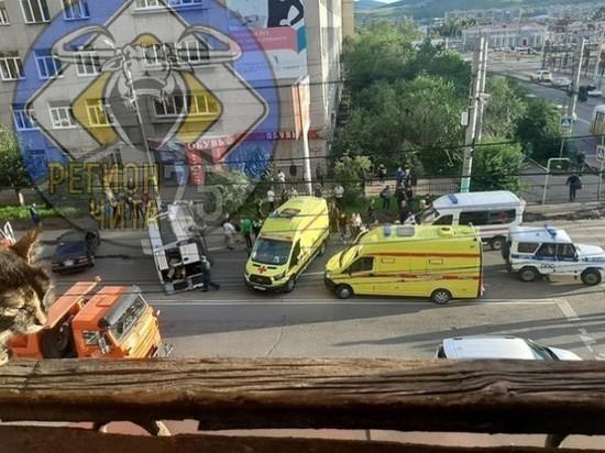 Один человек находится в реанимации после ДТП в центре Читы