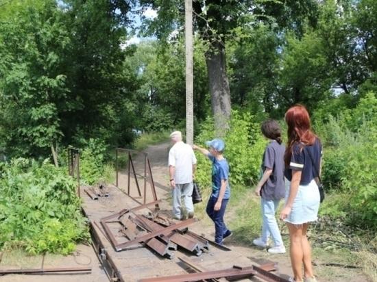 В Липецке обновят пешеходный мост через Привокзальные пруды