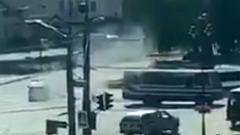 Луцкий террорист бросил гранату в полицейский дрон: кадры с места