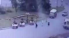 В Луцке террорист отпустил троих заложников: видео