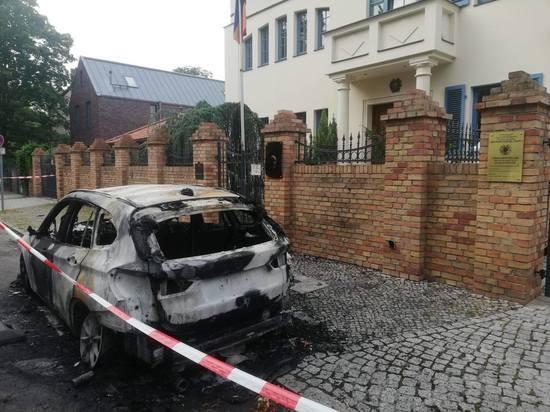 В Германии подожгли автомобиль армянского посольства