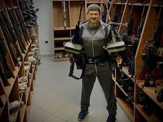 Кадыров объяснил, откуда у него пулеметы для фотографии