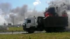 По Тольятти проехал горящий грузовик