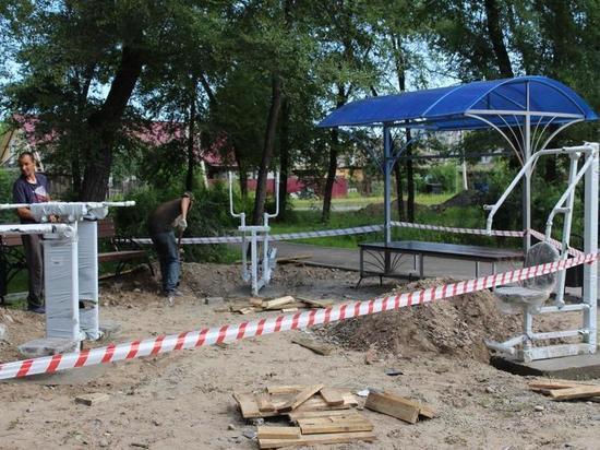 В Абакане завершается благоустройство площади Павших Коммунаров