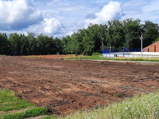 В Козьмодемьянске продолжается обновление стадиона