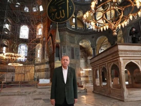 """Эрдоган приказал сделать """"Святую Софию"""" круглосуточной мечетью"""