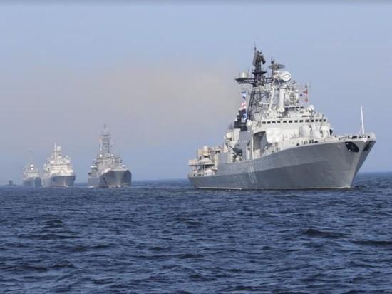 В Генеральной репетиции главного военно-морского парада приняли участие 20 кораблей и 10 парадных расчетов