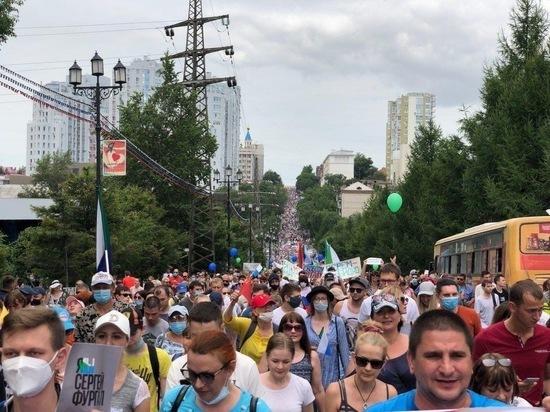 Жители Дальнего Востока снова вышли на акции в поддержку Фургала