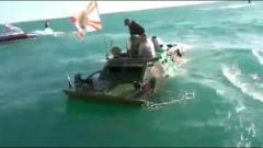 В Керченском проливе затонул бронетранспортер: видео