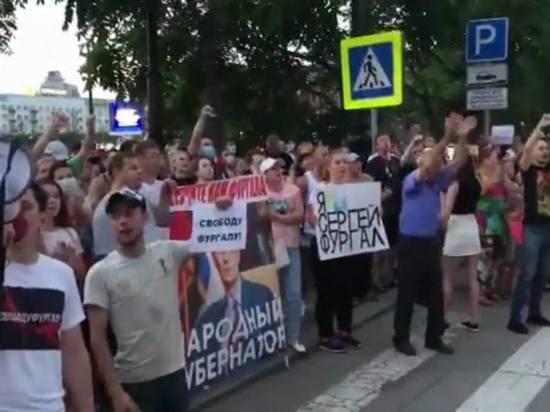 Жители Хабаровска вышли на вторую за день акцию