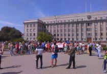 На акцию в поддержку жителей Хабаровска в Иркутске вышло более 50 человек