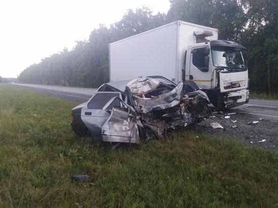 В Челябинской области женщина уснула за рулем автомобиля и врезалась в грузовик