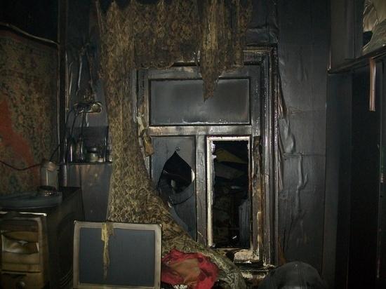 Ночью в Ивановской области сгорел дом