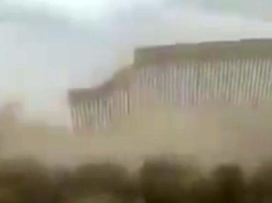 Сооружение не выдержало натиска урагана «Ханна»