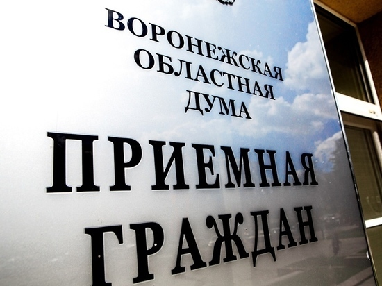 Более 1300 воронежцев обратились с начала этого года к депутатам областной Думы