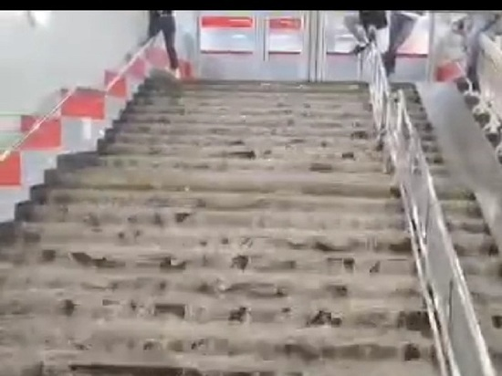 """В Москве затопило станцию метро """"Ботанический сад"""""""
