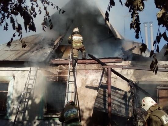 В Липецкой области произошёл крупный пожар