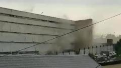 Пожар в женском СИЗО сняли на видео: территорию затягивает дымом