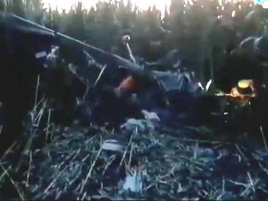 Под курском самолет зацепился за провода и рухнул