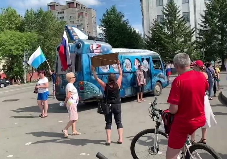 "В Хабаровске арестован первый протестующий - хозяин ""Фургаломобиля"""