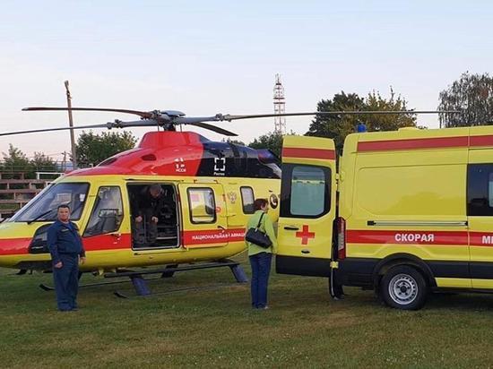 Пострадавший на хлебзаводе ребенок доставлен вертолетом в Рязань